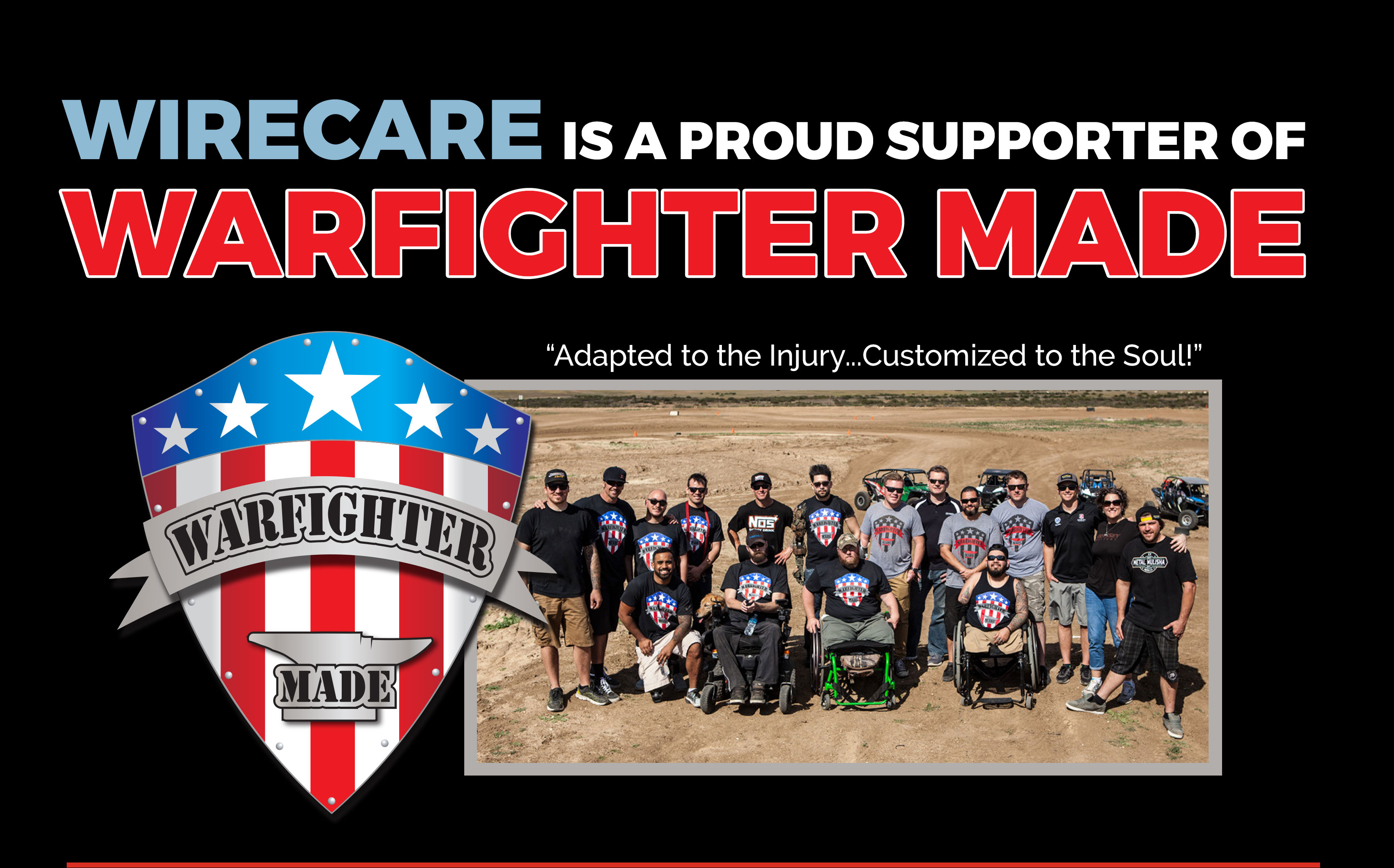 Wirecare proudly supports Warfighter made